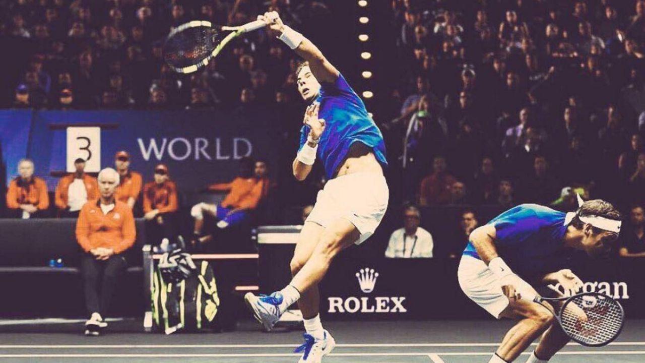 Federer bromeó con Nadal: Debería vigilar mi espalda