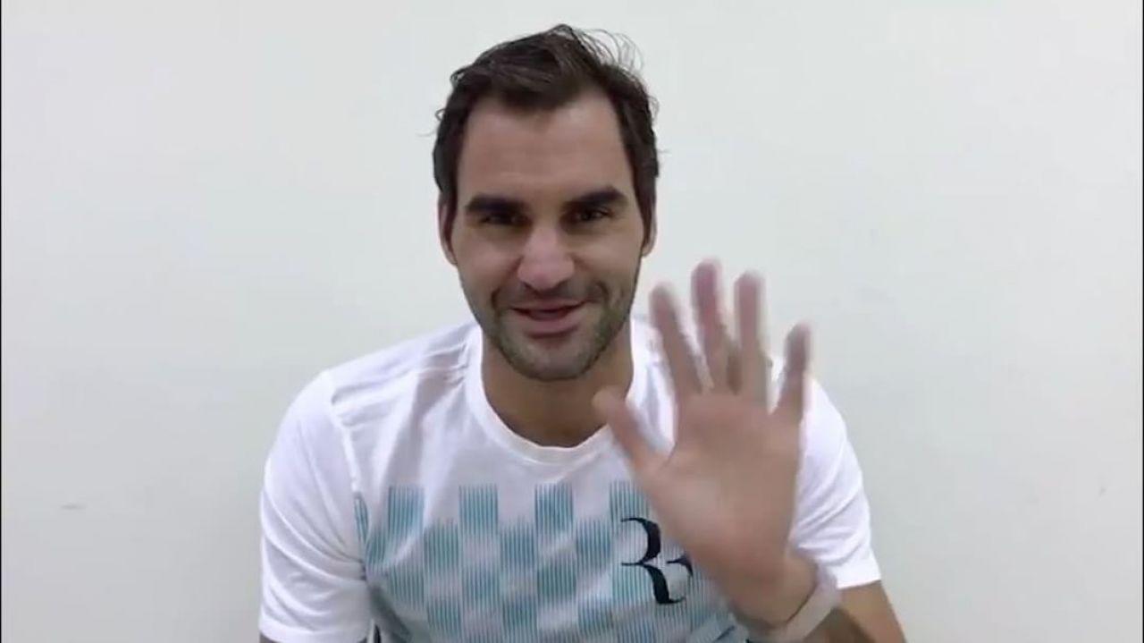 Federer felicita a Nadal por el primer aniversario de su Academia