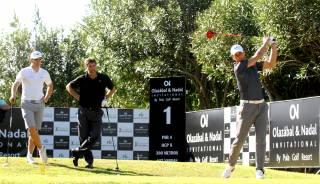¿Cuanto le pega Rafa Nadal desde el tee cuando juega al golf?