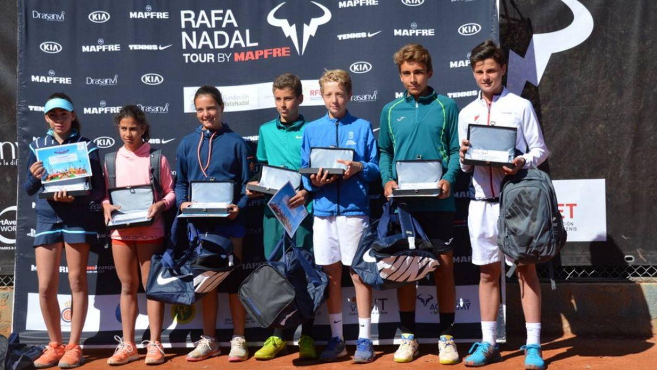 Más de 500 jóvenes participaron en el Rafa Nadal Tour en Valldoreix