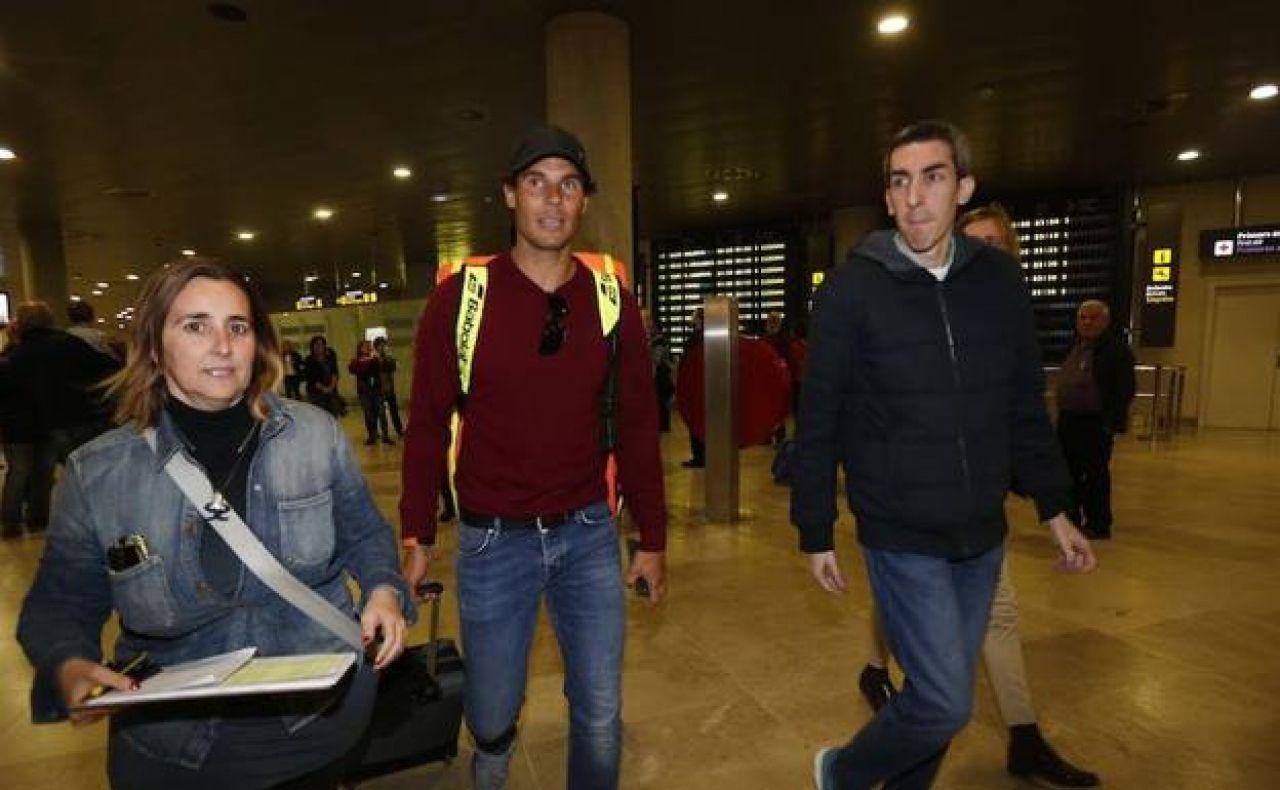 Nadal aterriza en Valencia: «Aquí estoy, dispuesto a hacerlo lo mejor que pueda»