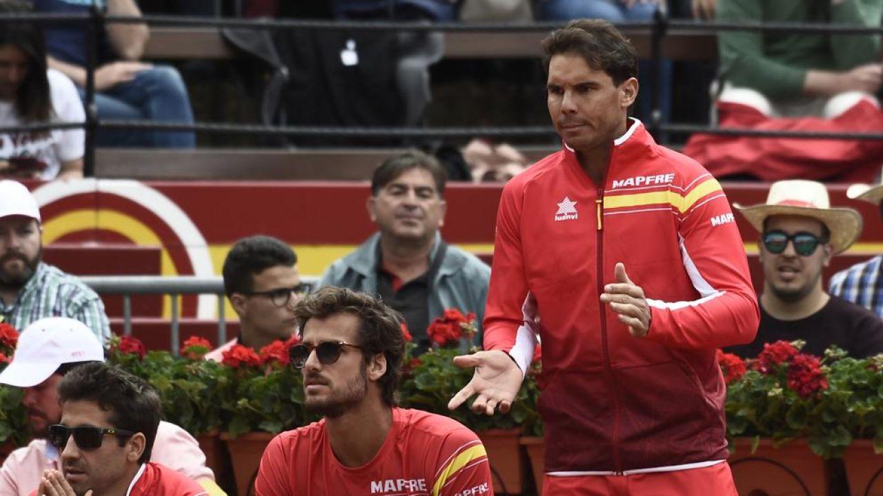 Nadal celebró en Copa Davis un punto que habitualmente no se festeja