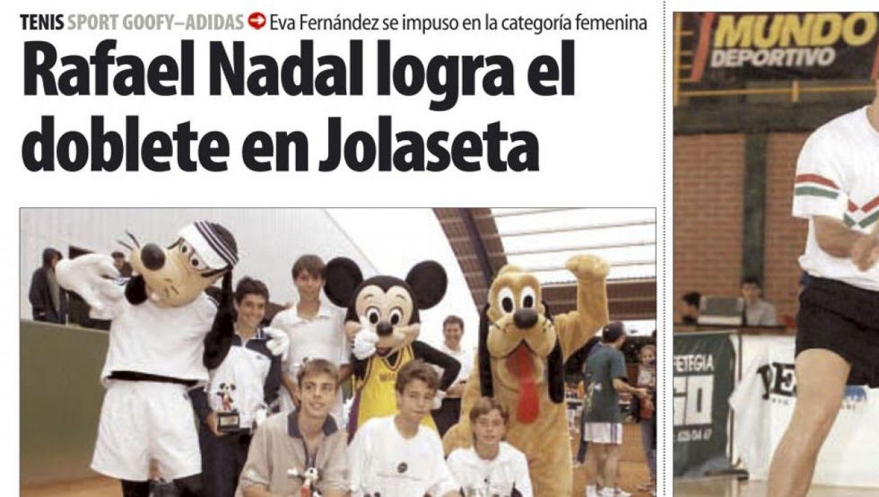 Hace ahora 18 años que Nadal se proclamo campeón del torneo vasco en Getxo