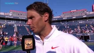 """Thumbnail Video: Nadal tras ganar Toronto: """"Gracias al público, por ellos entreno cada mañana con la mayor pasión"""""""