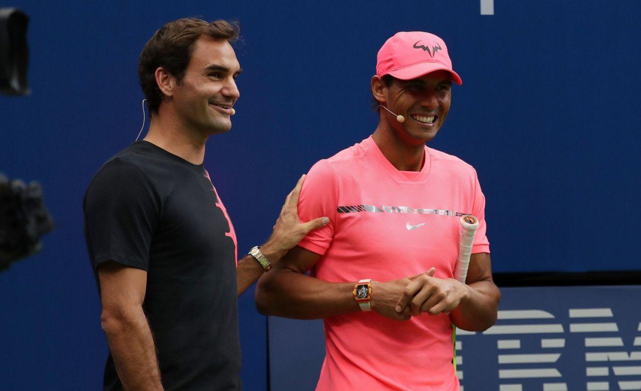 Nadal y Djokovic juntos en el Arthur Ashe Kids Day, en beneficio de los niños