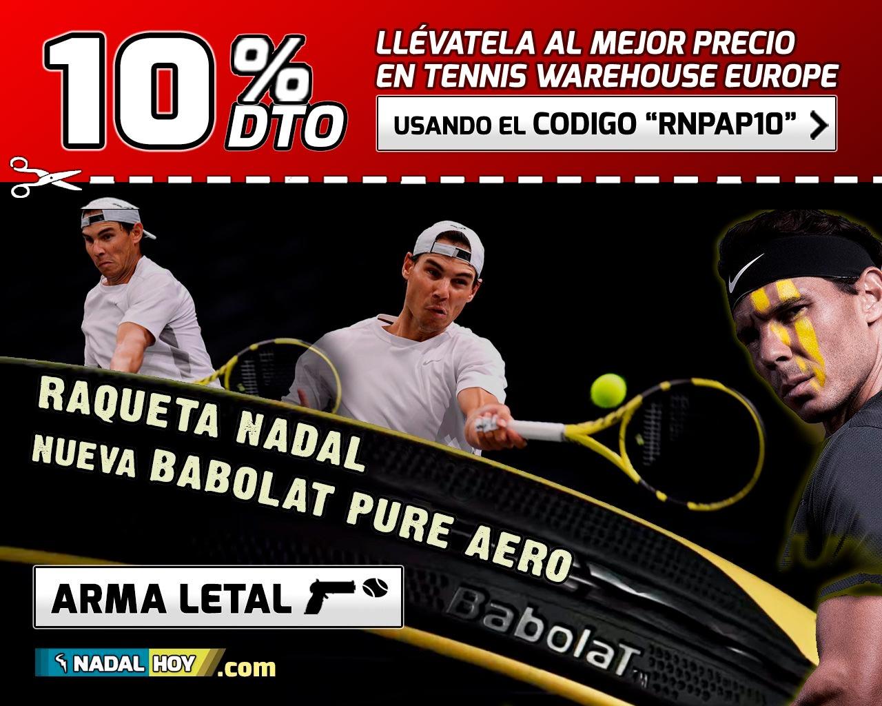 Babolat Pure Aero, nueva raqueta y arma letal de Rafa Nadal