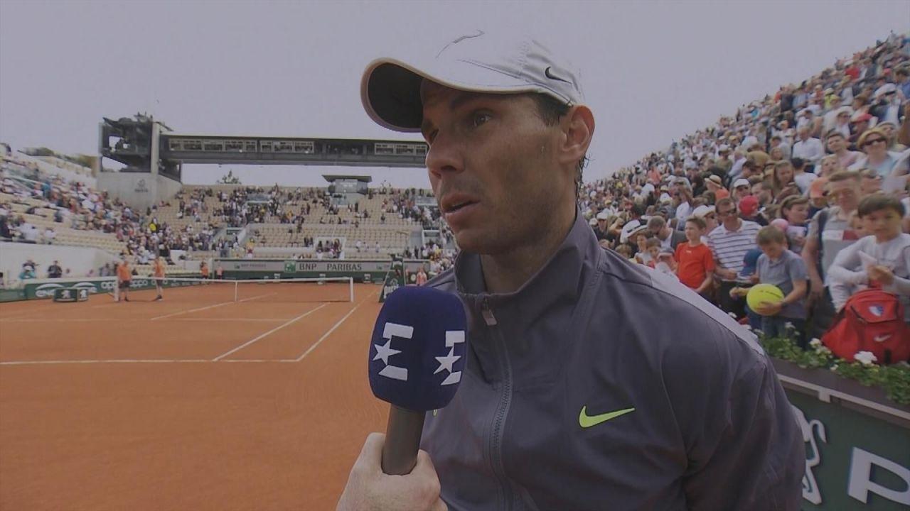 Nadal admite que se relajó un poco ante Maden en Roland Garros