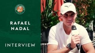 Entrevista a Nadal antes de su partido contra Federer en París