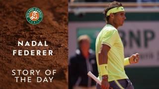 Las mejores imágenes del Nadal-Federer de Roland Garros