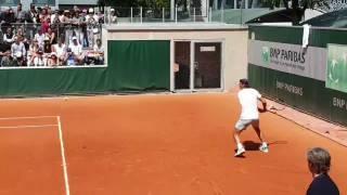 Salió el sol y Nadal ya entrena para las semis contra Federer