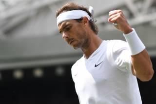 Espectacular puntazo de Nadal en la red vs Querrey en Wimbledon