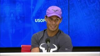 Rafa Nadal tras su debut en el US Open: Buen comienzo, estoy feliz