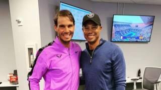 Así se emocionó Tiger Woods con Rafa Nadal en el US Open