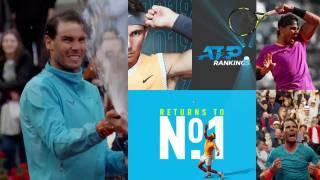 La ATP rinde homenaje a Rafa Nadal por su regreso al Número 1