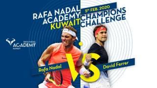 Sigue en directo la exhibición Nadal - Ferrer desde la Academia Rafa Nadal en Kuwait