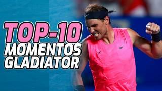 Rafa Nadal, Nro. 1 en el Top-10 de los puntos más Gladiator