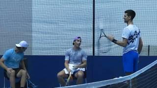 VIDEO: Nadal y Djokovic entrenan juntos e intercambiaron impresiones en el ATP Finals